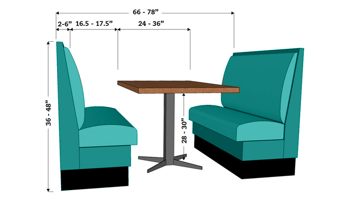 Restaurant Booth Dimensions Booth Seating Amp Banquette