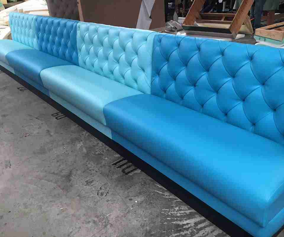 Bright Blue Banquette Booth Seating.  17757103_1913525248894584_6326934266045542616_n. Banquette.  13912911_1791467254433718_184614012450745212_n