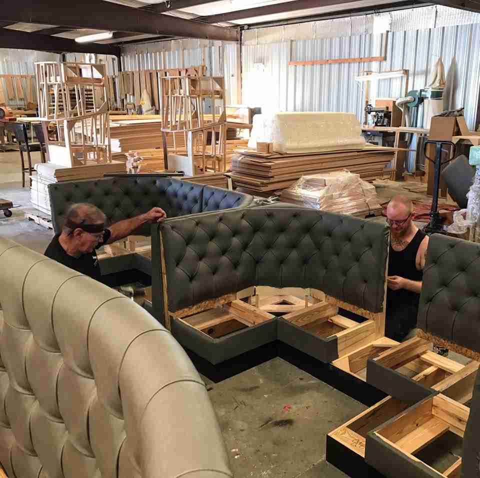 L Shaped Banquette For Sale: Half Circle Restaurant Booths