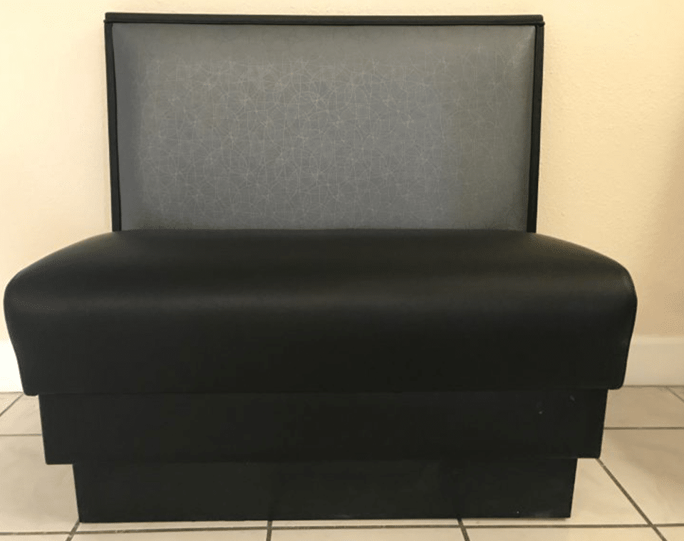 Black Single Restaurant Booth by Mega Seating and Design.