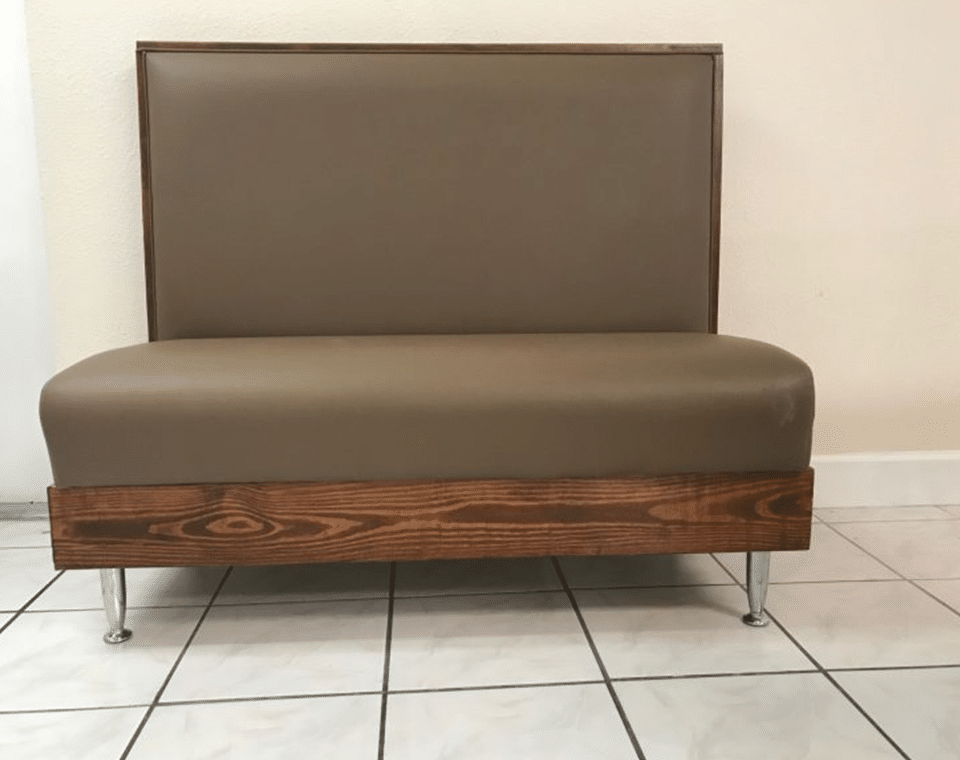 Brown Single Booth Seating by Mega Seating and Design.