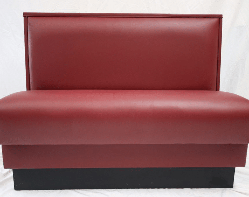 Red Single Booth by Mega Seating and Design.